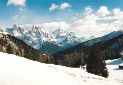 We skied at the great San Martino di Castrozza resort