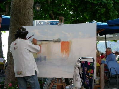Painting a scene at Garda