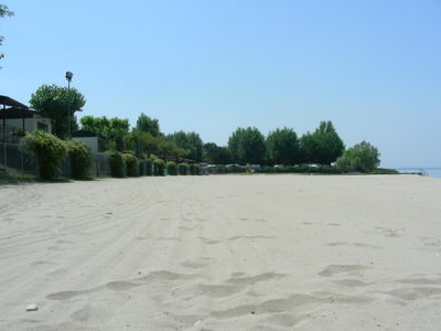 This campsite at Lazise had a wonderful white sand private beach!