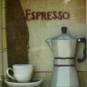 Espresso is so popular here they even make pictures (like this one) about it!
