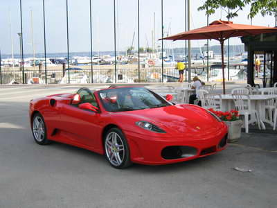 You see a lot of exotic cars at Lake Garda!