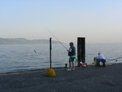 Evening fishing at Gargnano