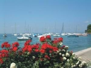The pretty bay at Garda