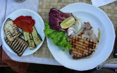 Grilled pork and veggies, Yummy!