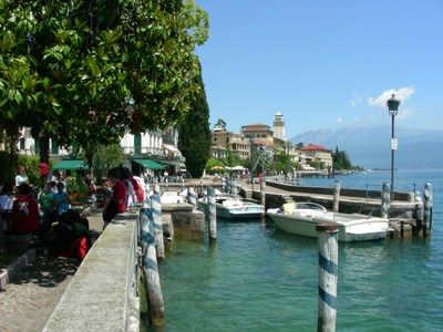 The pretty lakefront area
