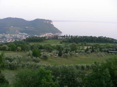 View  from Club Ca'degli Ulivi overlooking the town of Garda