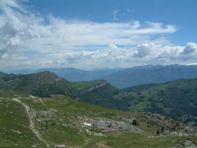 From Monte Baldo you can hike inland