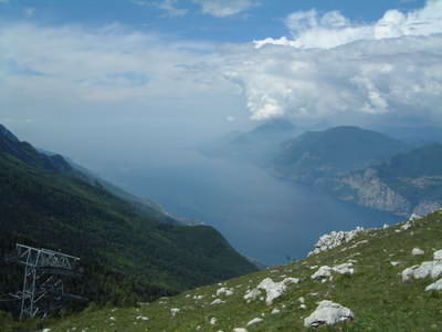 The view from Monte Baldo over Lake Garda is truly spectacular!