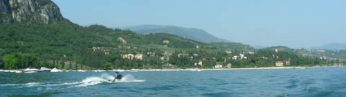 Jet skiing near Garda town