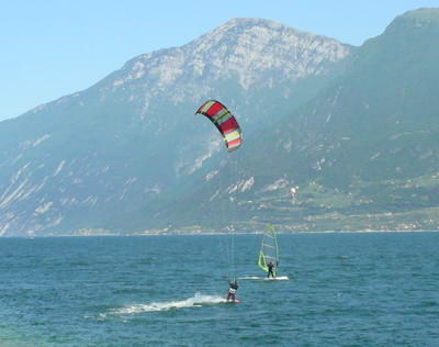 As you might have guessed watersports are very popular on Lake Garda
