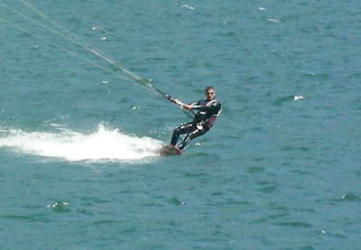 Kite surfers can go pretty quick!