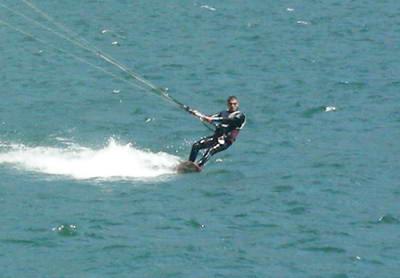 Kite surfers can go pretty quick!