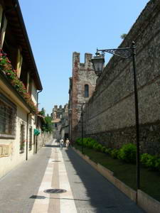 The walls to the castle are very extensive and well preserved