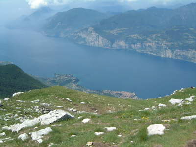 The spectacular view down to Malcesine from Monte Baldo!