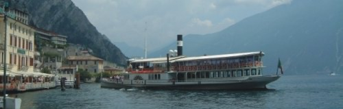 Paddle steamer at Limone