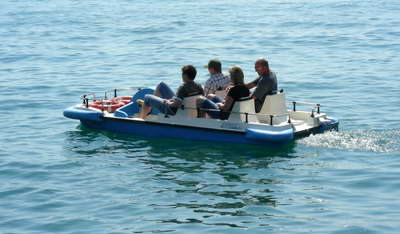 Pedalos are for big kids as well as smaller ones!