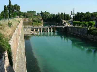 The fortifications at Peschiera
