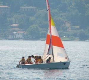 Learning to sail on Lake Garda