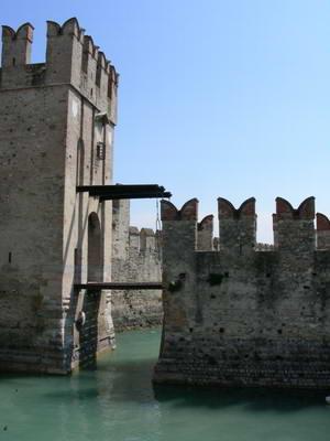 The signature castle turrets of the Scaligeri empire