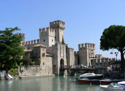 The impressive castle at Sirmione