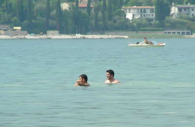 Swimming in the Padenghe area