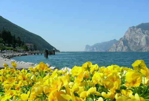 The wonderful view from the top of  Lake Garda