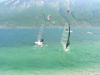 Windsurfing with a friend is a lot of fun