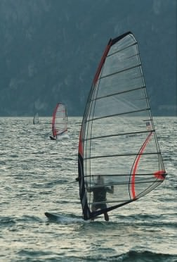 Windsurfing one of Lake Garda's most popular sports