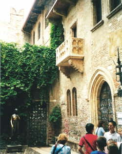 Romeo and Juliet's Balcony in Verona