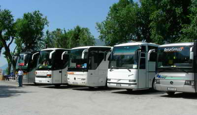 You'll find lots of coach tours going around Lake Garda