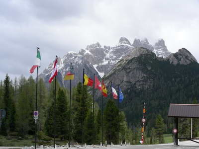 The majestic Dolomite mountains