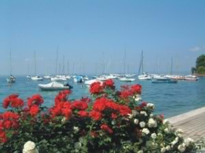 The pretty bay at Garda