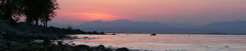 Evening scene at Lake Garda