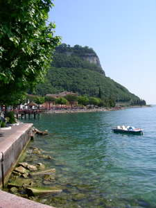 Garda is where the east coasts starts to get mountainous