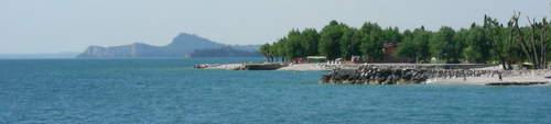 The blue waters of Lake Garda