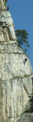 There is some awesome rock climbing at Lake Garda