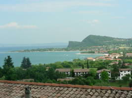 Looking from San Felice area back to the rock of Manerba
