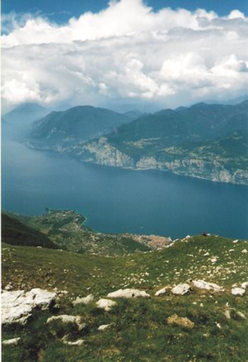 Viewing the lake from the top of Monte Baldo makes it easier to see how it was formed