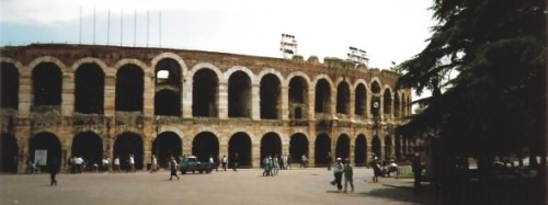 The beautiful Roman arena at Verona