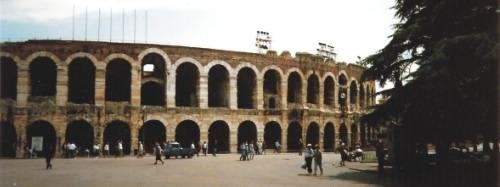 The beautiful Roman arena at Verona